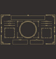 art deco border and frame set vector image vector image