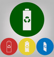 battery recycle sign 4 white vector image vector image