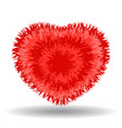 big soft red heart vector image