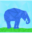 blue elephant polygonal origami like vector image vector image