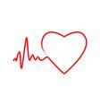 cardio heart heart beat icon vector image