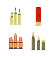 cartridges icon set flat style vector image vector image