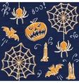 Chalkboard Halloween seamless pattern vector image