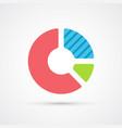 chart pie trendy symbol vector image vector image