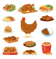 chicken cartoon chick character hen and vector image vector image