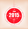 christmas and happy new year label card vector image vector image