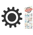 Cog Icon With 2017 Year Bonus Pictograms vector image vector image