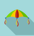 colorful kite icon flat style vector image