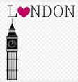 conceptual image i love london vector image