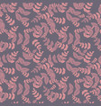 cute pattern with pink leaves vector image vector image