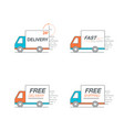 delivery icon set truck service order 24 hour
