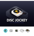 Disc Jockey icon in different style vector image vector image