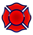 fire rescue logo base red with dark blue trim vector image vector image
