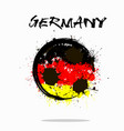 flag of germany as an abstract soccer ball vector image