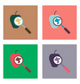 flat icon design collection laboratory magnifier vector image vector image