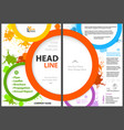 flyer template with colorful circles and splatters vector image