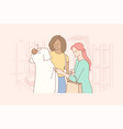 friendship shopping recreation fashion beauty vector image