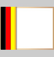 german flag border poster vector image