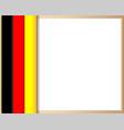 german flag border poster vector image vector image
