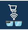 glasses technology online shop application media vector image vector image