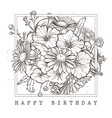 greeting card with happy birthday wishes vector image