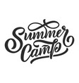 hand drawn lettering about summer isolated vector image vector image