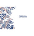 horizontal background with tropical palm tree vector image vector image