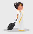indian malayali woman cartoon vector image