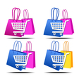 Internet Shopping Icons vector image vector image