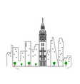 isolated london cityscape vector image vector image