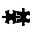 jigsaw puzzle two black pieces team vector image vector image