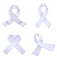Lavander awareness ribbons vector image