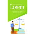 law degree legal studies brochure flat template vector image vector image