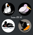 logo birds6 vector image vector image