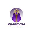 logo kingdom gradient colorful style vector image