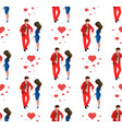 love couple wedding day seamless pattern vector image