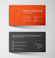 Modern red business card template with simple vector image vector image