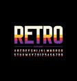 modern retro style font design alphabet letters vector image vector image