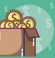 money investment and savings vector image vector image