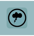 Pale blue thunderstorm sign vector image vector image