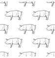 pig vintage engraved seamless pattern vector image vector image