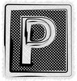 Polka Dot Font LETTER P vector image vector image