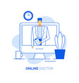 practitioner cardiologist give online consultation vector image