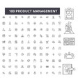product management editable line icons 100 vector image vector image