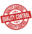 quality control round red grunge stamp vector image vector image