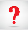 question mark man head symbol vector image vector image