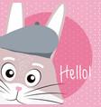 rabbit cute animal cartoon vector image vector image