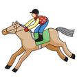 racehorse vector image