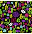 Romantic seamless pattern with cute flowers and vector image vector image