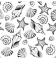 seamless pattern hand draw in marine style vector image vector image
